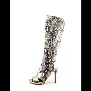 Guess Condolan Knee High Python Print Boot